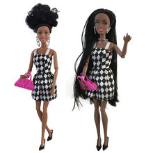 Baby Movable Joint African Doll Toy Black Doll Best Gift Toy 18 inch doll clothes toys for children(China)