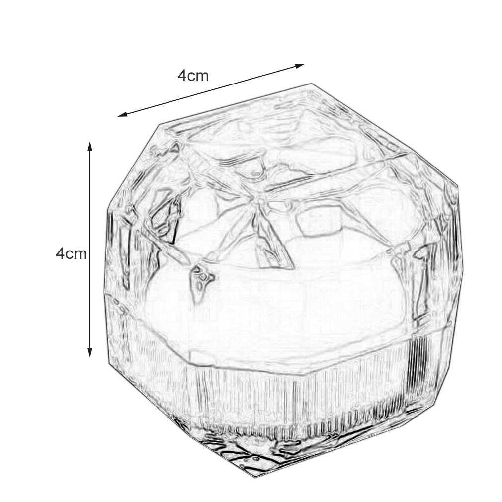 10 יח'\חבילה אקריליק קריסטל טבעת אחסון תצוגת קופסות אחסון ארגונית מקרה ברור חבילה תיבת תכשיטי אריזה אוסף