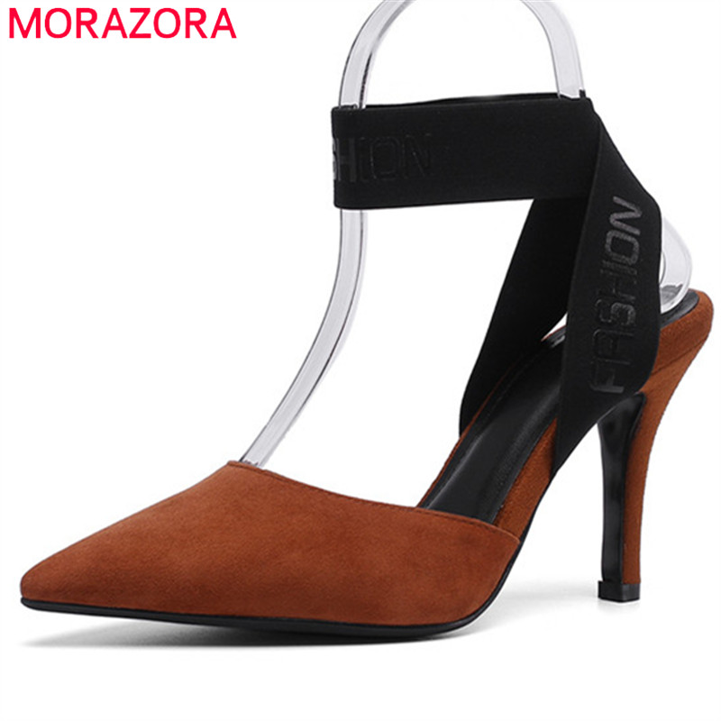 MORAZORA 2019 top quality slingback cow leather shoes woman pointed toe summer thin high heels shoes party prom women sandals MORAZORA 2019 top quality slingback cow leather shoes woman pointed toe summer thin high heels shoes party prom women sandals