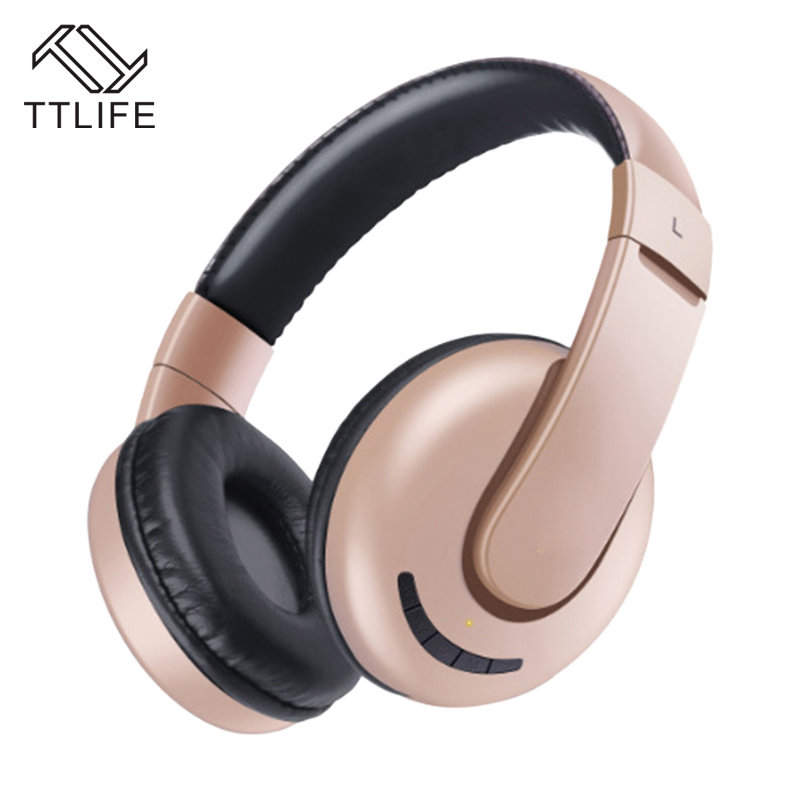 TTLIFE MX888 Wireless Stereo Headphone Bluetooth 4.1 Auriculares Portable Headset with Noise Cancelling Support TF Card FM Radio ttlife portable mini wireless bluetooth earphone v4 1 stereo noise cancelling headset with car charger 2 in 1 for iphone 7