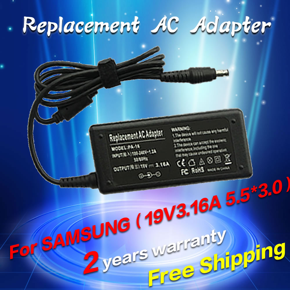 19V 3.16A 5.5*3.0mm Power AC Adapter Supply for Samsung AD-6019R AD-6019 CPA09-004A ADP-60ZH D PA-1600-66 ADP-60ZH A charger gold tree design кожа pu флип крышки кошелек карты держатель чехол для huawei mate 8