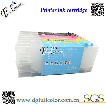 Free Shipping Ink Refill Kits Refillable Ink Cartridge & Pigment Inks & Chip Resetter For Epson pro 4000 wide Format  Printer