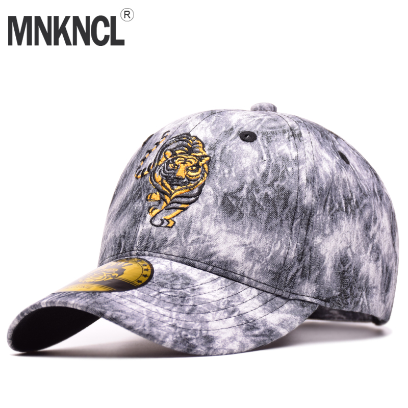 MNKNCL High Quality 100% Cotton Outdoor Baseball Cap Tiger Embroidery Snapback Cap Fashion Sports Hats For Men & Women Bone Caps fashion sports baseball cap men