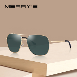Image 1 - MERRYS Men Classic Sunglasses Aviation Frame HD Polarized Shades For Driving Sun Glasses UV400 Protection S8173