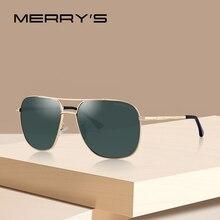 Merrys 남자 클래식 선글라스 항공 프레임 HD 태양 안경 UV400 보호 S8173 운전에 대 한 편광 된 음영