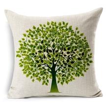 High Grade Pillow Covers Brief Casual Life Trees New Fashion Design 45X45CM Linen Pillow CoverHome Decorative cushion case