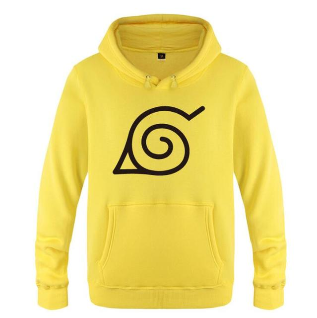 Naruto Printed Fleece Long Sleeve Sweatshirt Pullover Hoodie
