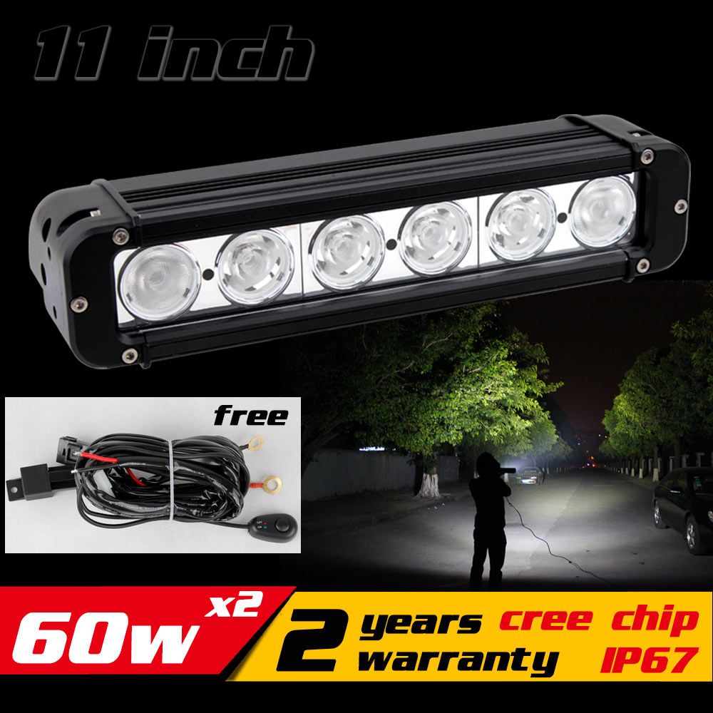 11 60W LED Work Light Bar for ATV 4X4 Combo LED Offroad Light Bar Tractor offroad Fog light Work Light Seckill 36w 72W 1pcs 120w 12 12v 24v led light bar spot flood combo beam led work light offroad led driving lamp for suv atv utv wagon 4wd 4x4