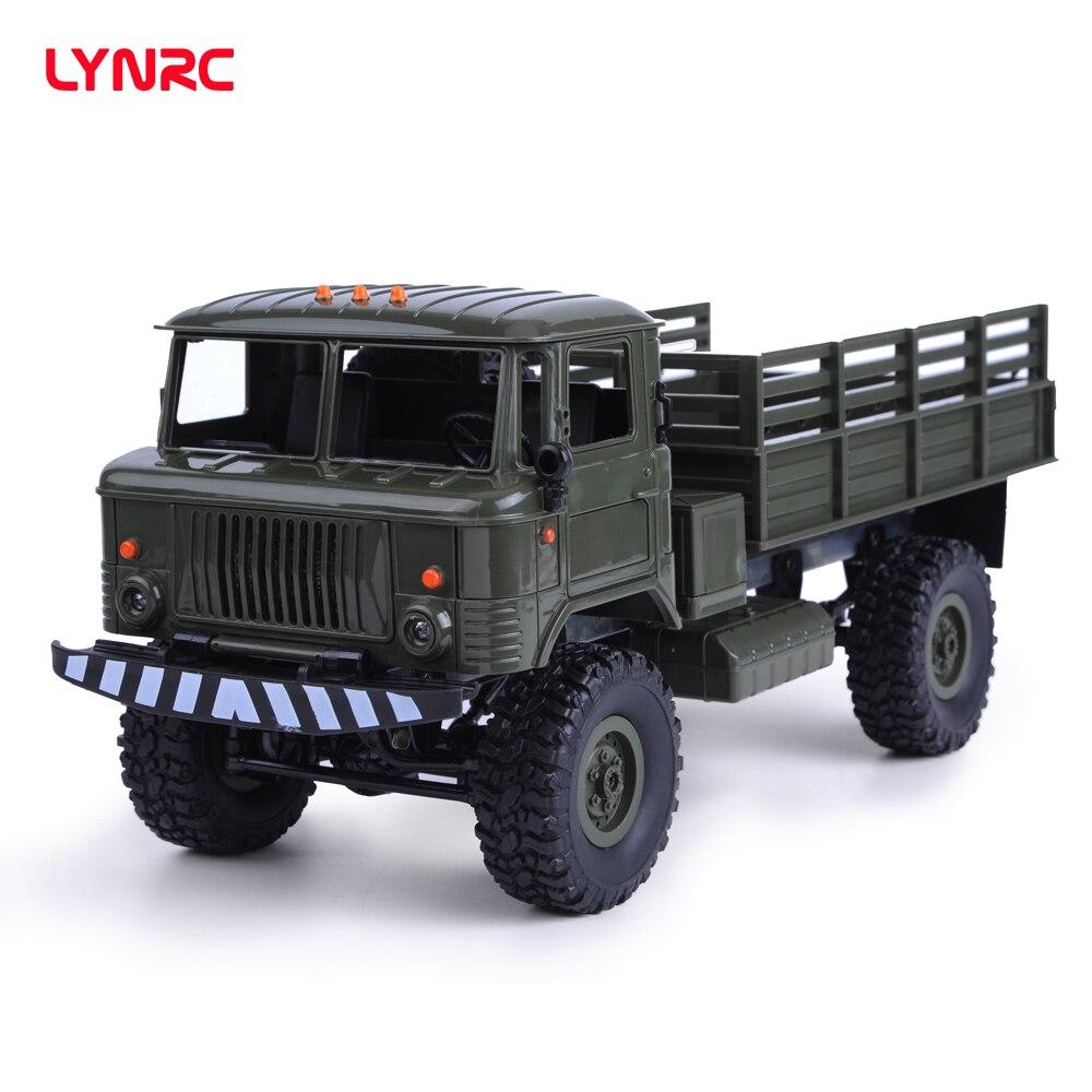 Lynrc BK-24 1/16 RC Militär Lkw 4 Wheel Drive Fernbedienung Off-Road RC Auto Modell Fernbedienung Klettern auto
