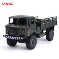 Lynrc BK 24 1/16 RC Military Truck 4 Wheel Drive Remote Control Off Road RC Car Model Remote Control Climbing Car