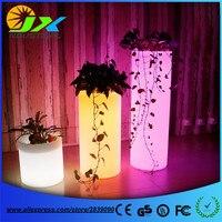 PE Kunststoff LED Blumentöpfe Boden Dekoration eiskübel Rumba Square Glow Pflanzer Vase Kostenloser Versand
