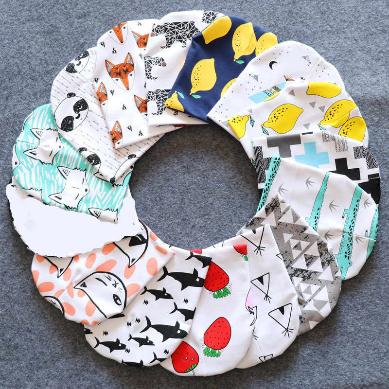 Topi Bayi Kapas Cetak Topi Balita Anak Bayi Beanie Hat Musim Semi Musim Gugur Musim Gugur Anak Topi Bayi Topi 0 -3 Tahun