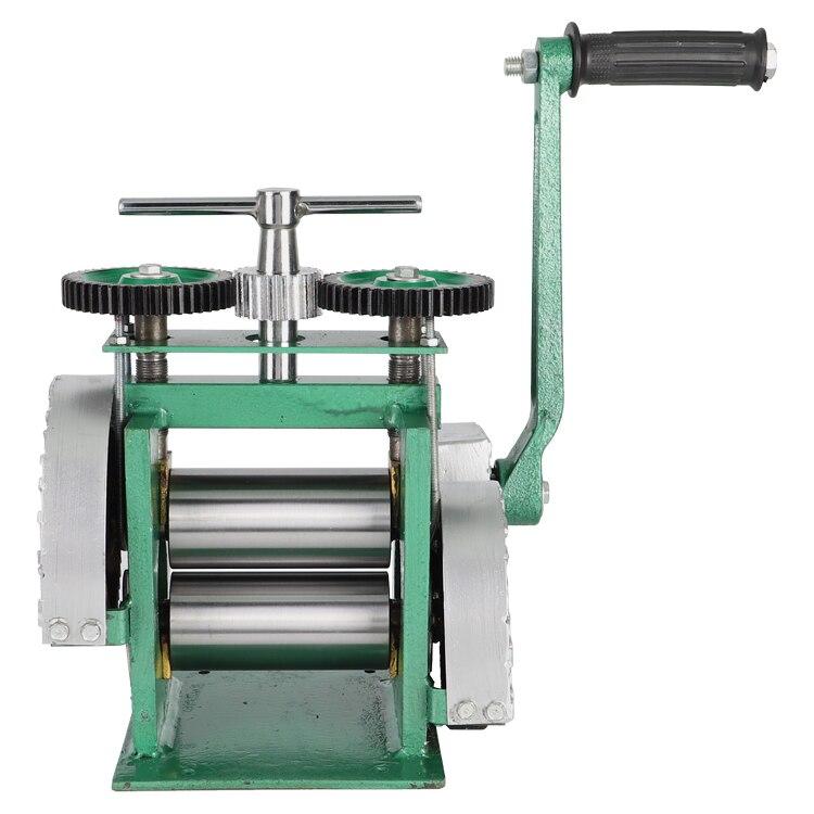 La main plate actionnent le mini laminoir d'or, machine de presse de comprimé de laminoir de bijoux