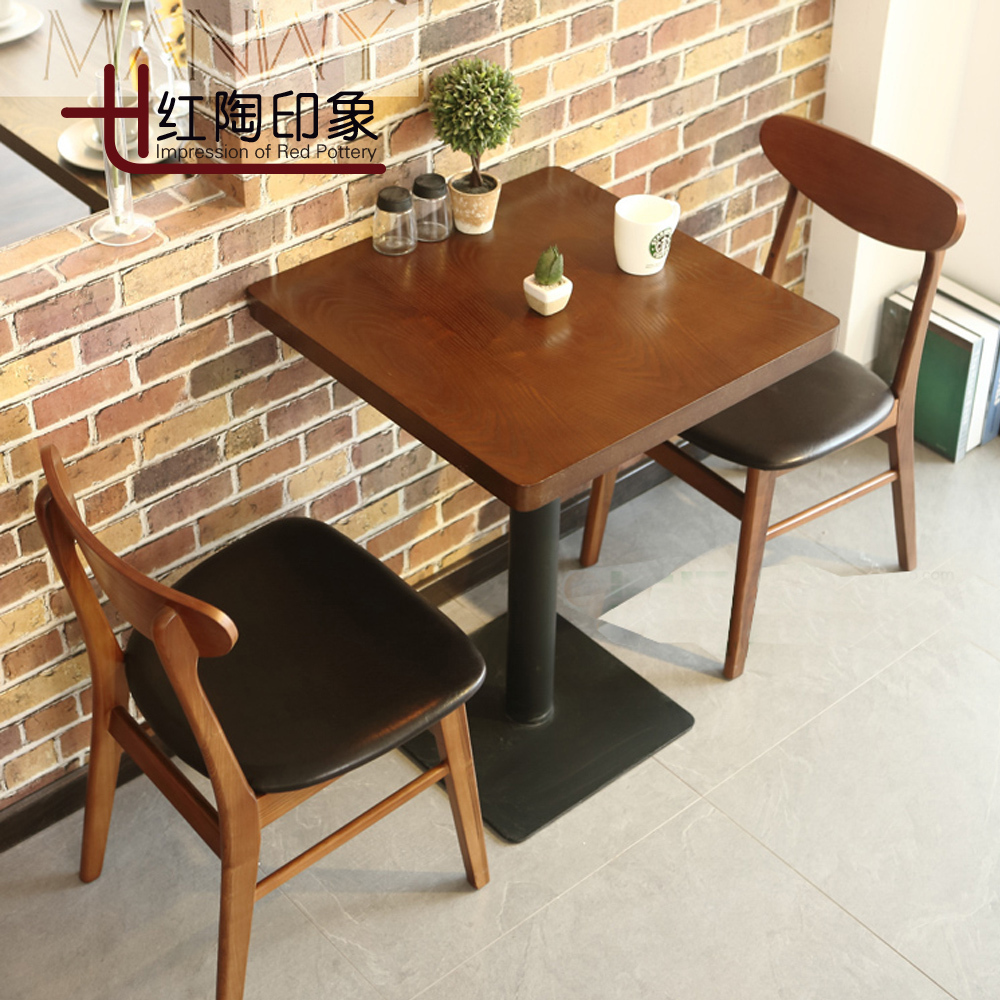 Western Chairs Us 198 Restaurant Tables And Chairs Dessert Tea Shop Cafe Chairs Chairs Western Wood Color Table Two Chairs في Restaurant Tables And Chairs