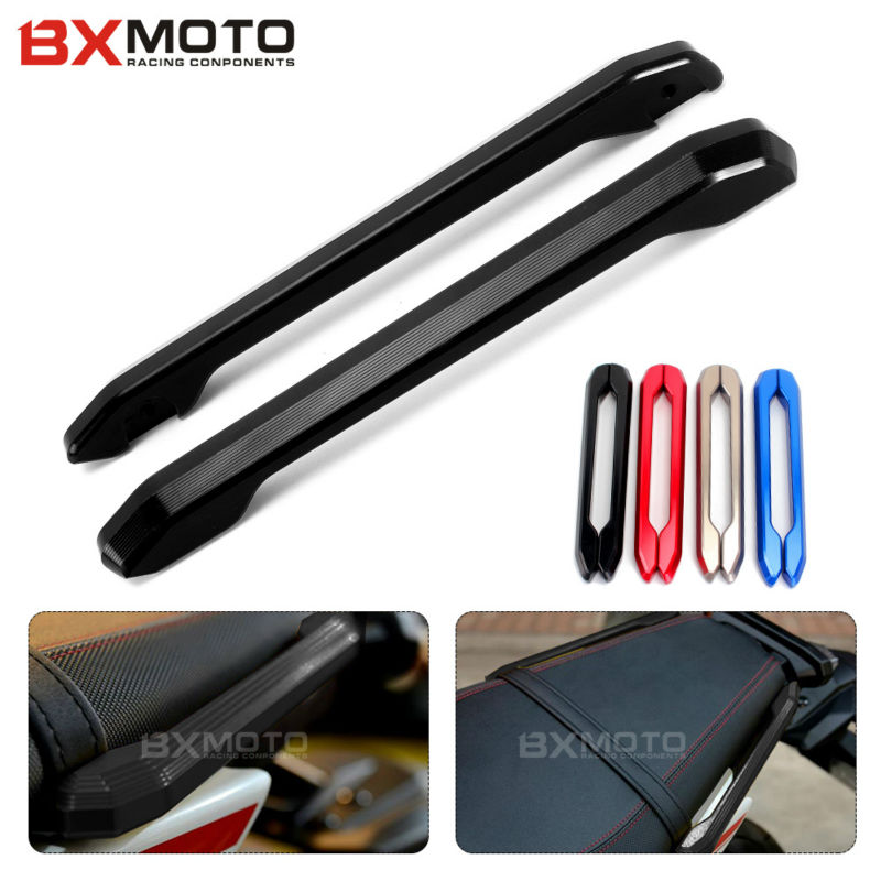 Motorcycle accessories CNC Rear Grab Bars Rear Seat Pillion Passenger Grab Rail Handle For Yamaha MT09 FZ09 MT-9 FZ-9 2014~ 2017 hot sale motorcycle leather passenger pillion rear seat for ktm 390 duke black red orange