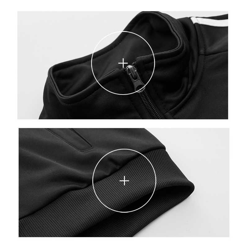 Chándal ASALI para hombre a rayas otoño 2019 conjunto Casual chaqueta con cremallera para hombre + Pantalones 2 piezas conjuntos de ropa deportiva para hombre traje de hombre Outwear