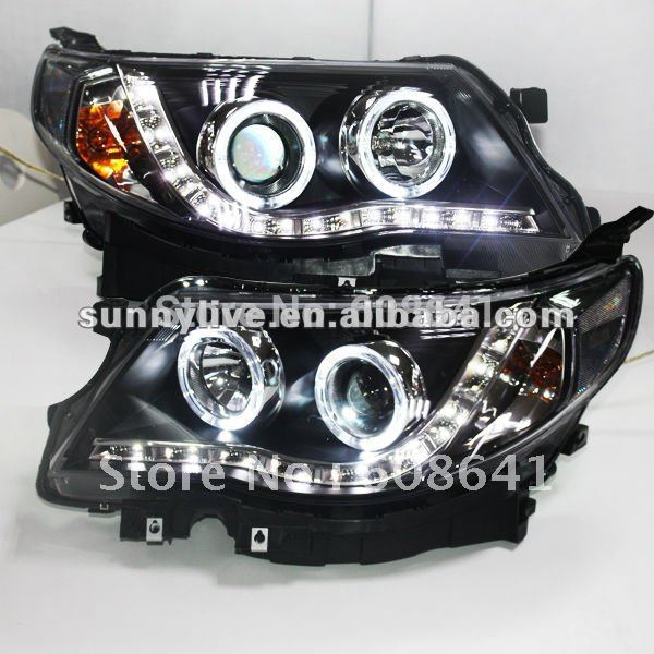 For Subaru Forester LED Angel Eyes Head Lamp 2009 to 11 subaru traviq главный тормозной