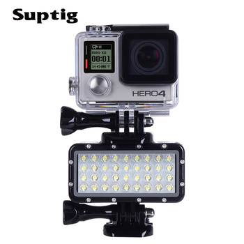 Gopro Dive Light | Underwater Light Diving Waterproof LED Light+Battery For GoPro Hero 5 6 7 8 Session 5 Xiaomi Yi 4K Lite Mijia Sjcam SJ6/7/8/9 H9