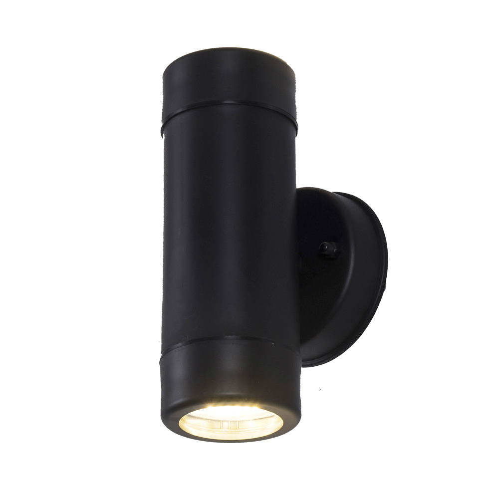 Black housing Up down IP65 Hotel Modern Led Wall Light Outdoor 5W wall lamp in LED Outdoor Wall Lamps from Lights Lighting