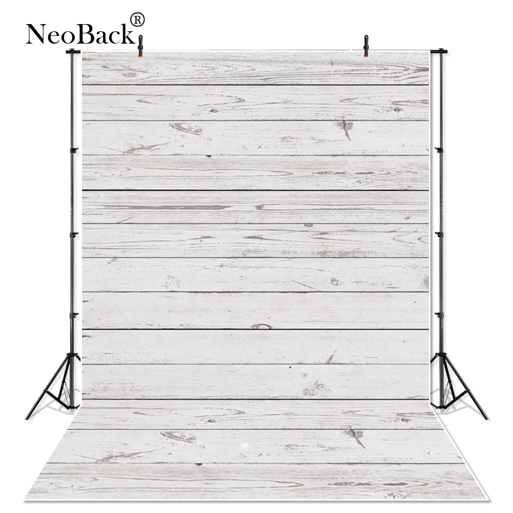 NeoBack white brown vinyl Cloth wood floor Photographic backdrop backgrounds Printed photo studio Photo Backdrops A0953 цена 2017