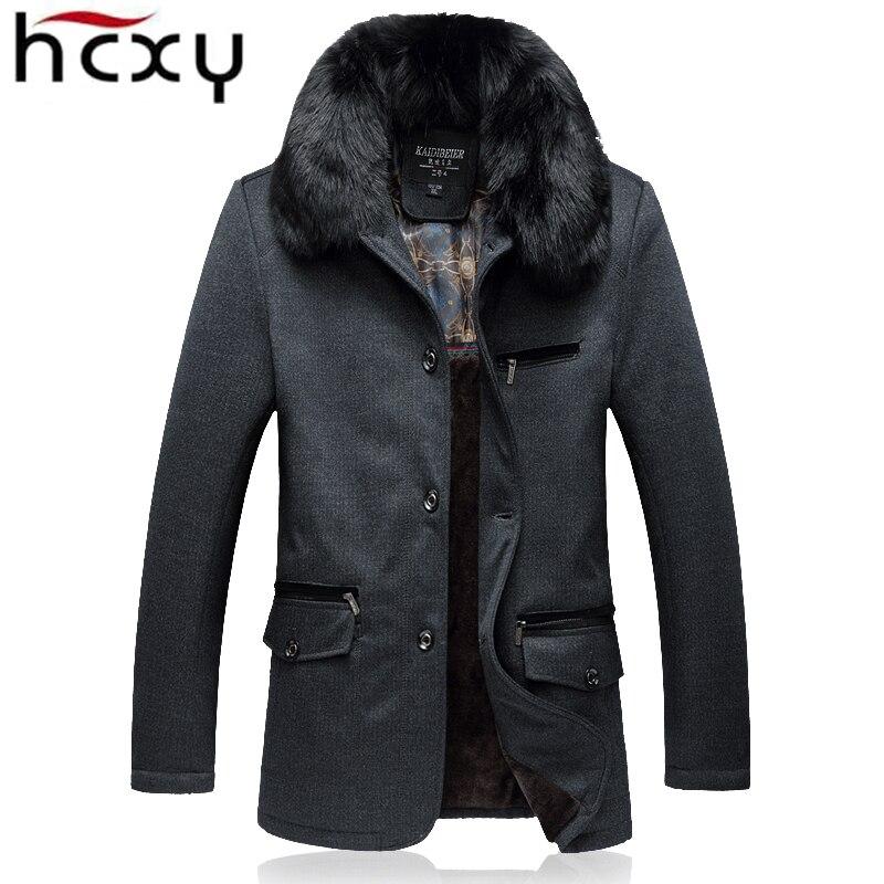 HCXY High Quality Winter Jacket Men Brand 2017 New Warm Thicken Coat Famous Fleece Fashion Parkas Elegant Business Plus Size 5XL