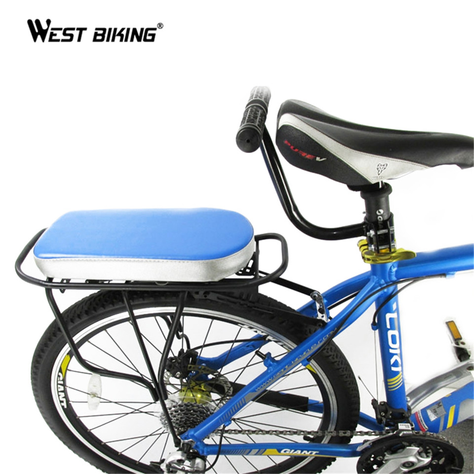 Baby chair on bike - Cycling Bicycle Bike Children Rear Seat Armrest Comfortable Handle Bar Saddle Safety Chair Armrest Cycling Rear