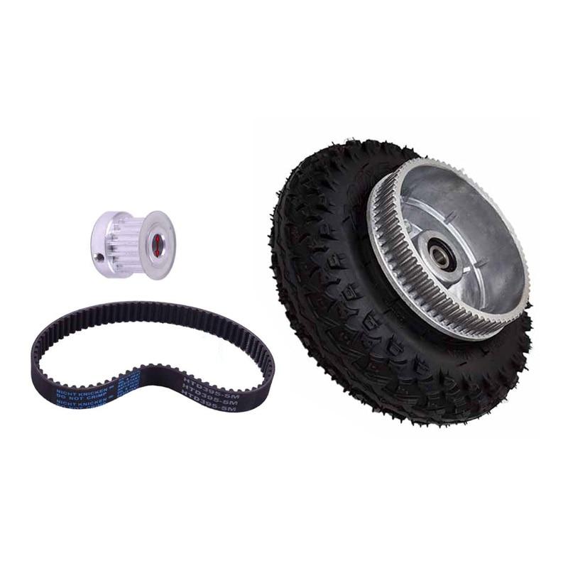 Free Shipping 200*50mm Electric Skateboard Gear Motor Truck Wheels Kit For Longboard Off Road Board