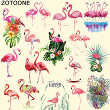 ZOTOONE Pretty Flamingos Iron on Patches for Clothing T-shirt Dresses DIY Accessory Decoration A-level Washable Heat Transfer B
