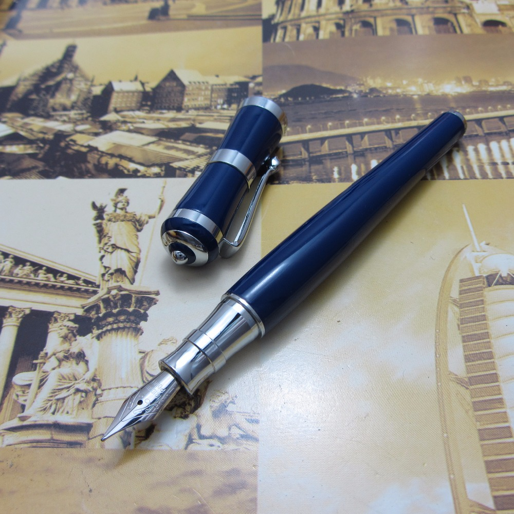 blue pen Fuliwen pen new high-quality metal housing office fountain Pen