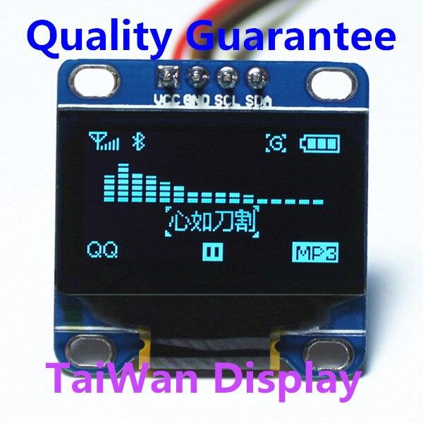 Hohe Qualität 0,96 Zoll I2c Iic Oled Modul Blau 12864/3,3 V-5 V Für Arduino 51 Msp420 Stim32 Scr htds-bi96 Gute QualitäT