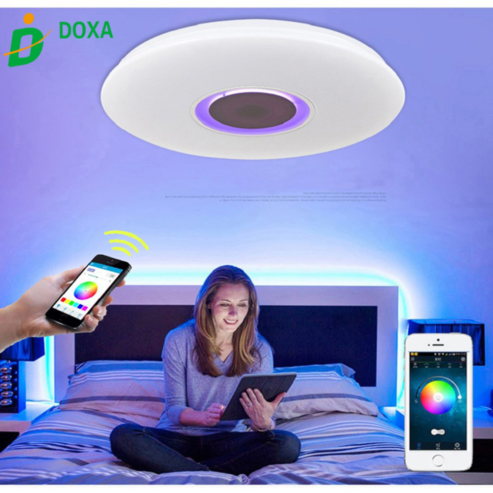 Ceiling Lights 100% Quality Hot Sale 36w App Rgb Control Music Led Ceiling Light Bluetooth 6500k Led Ceiling Lamp El Techo Luz For Living Room Bedroom Fashionable And Attractive Packages