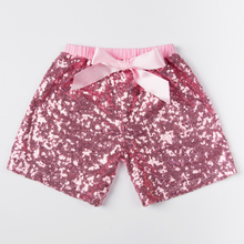 retail baby girls sequin shorts color pink kids short pant fit for 1-6 years free shipping KP-SEQUS01