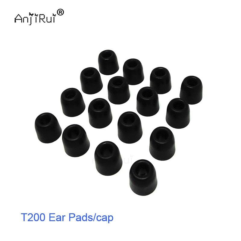 16 pcs/8 paire ANJIRUI T200 noir 4.0mm 12.5mm isolation mousse conseils pour in-ear écouteurs casque écouteurs basses renforcées Oreille tampons