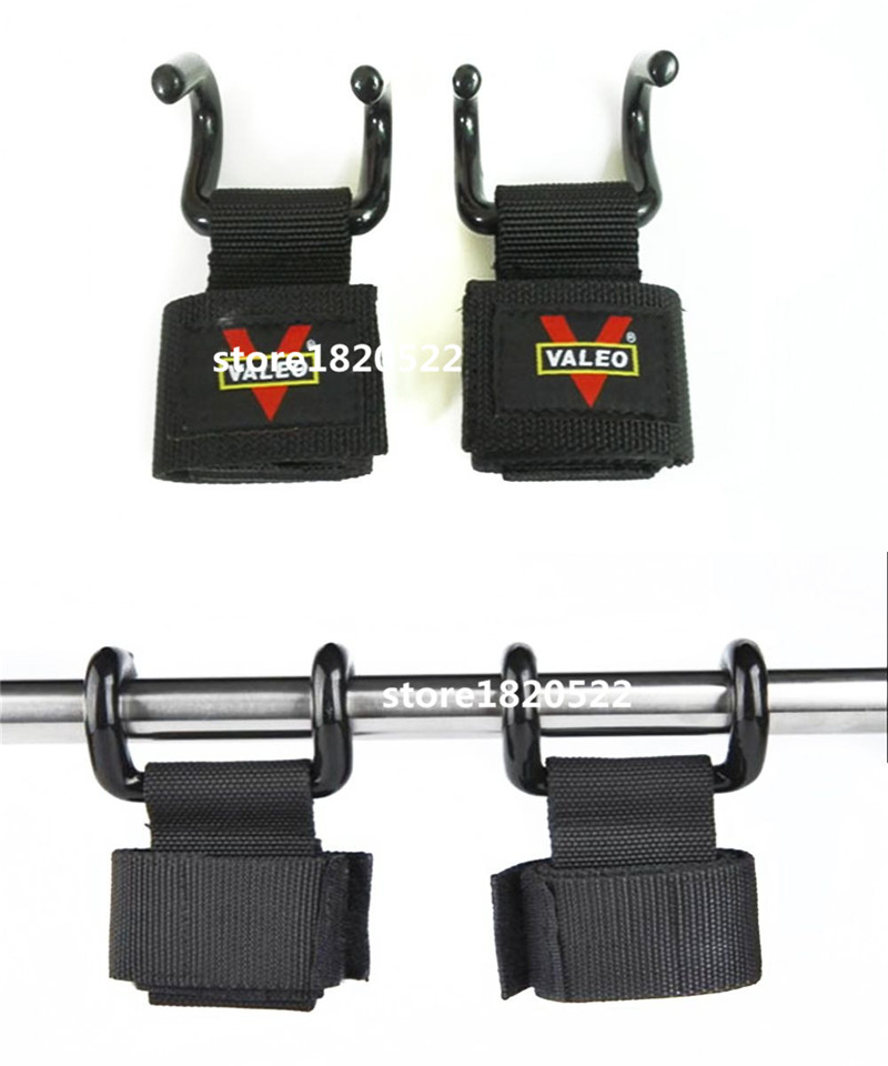 1 Pair Weight Lifting Hand Bar Grips Straps Wrist Support: 1 Pair Hook Glove Weight Lifting Grips Gym Fitness Wrist