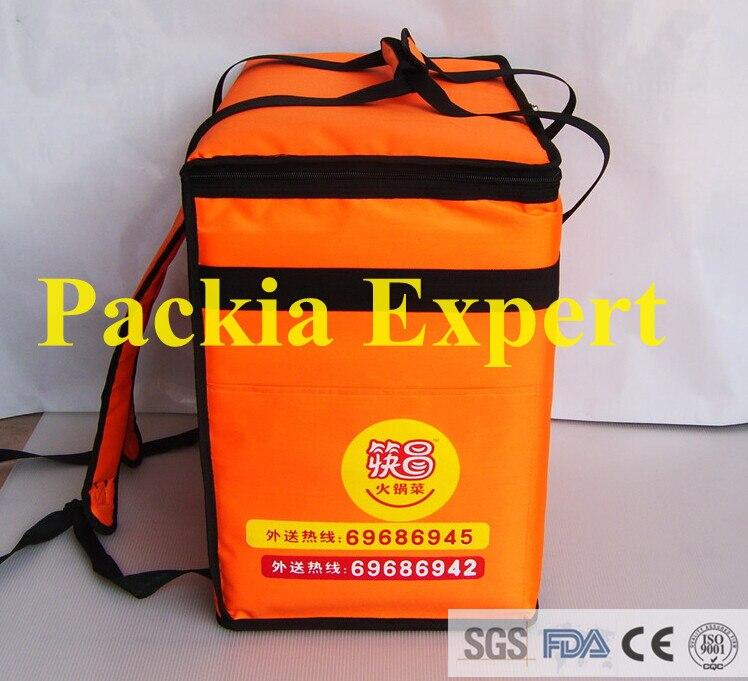 Sac d'isolation de sac à dos de 46*31*46 cm, sac de livraison de pizza de livraison de paquet de nourriture