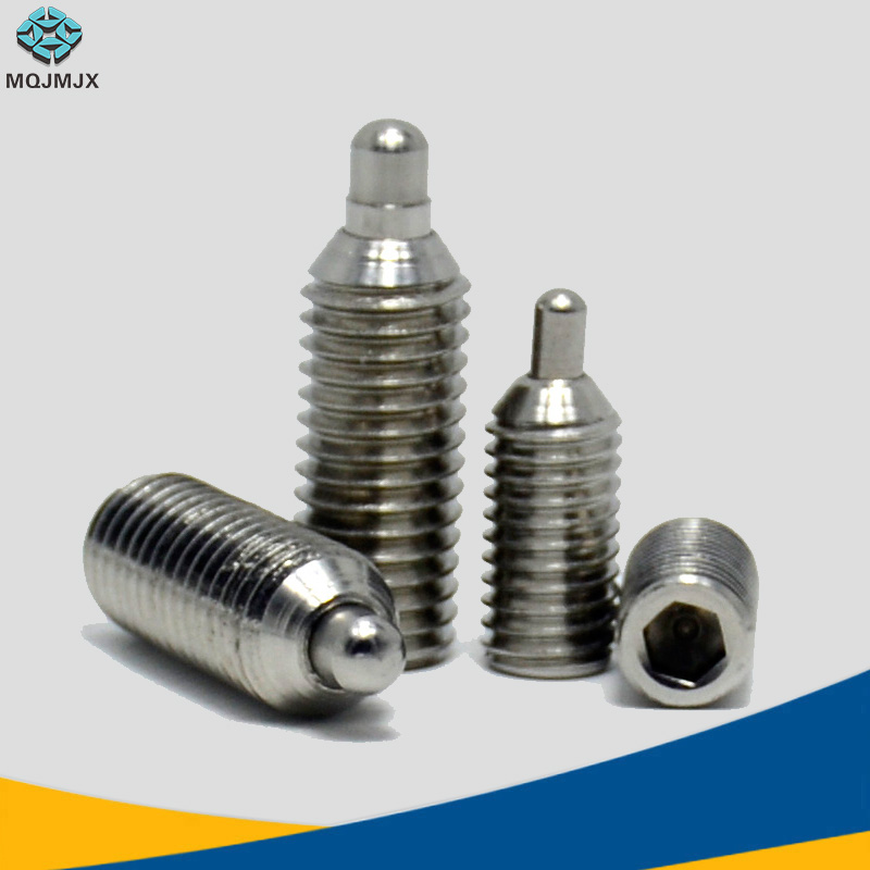 for Mechanical Devices Molds Providing Pressure and Accurate Clamps Ball Plunger Set M48 10PCS Thread Hex Socket 10pcs Screw Spring Plunger Ball