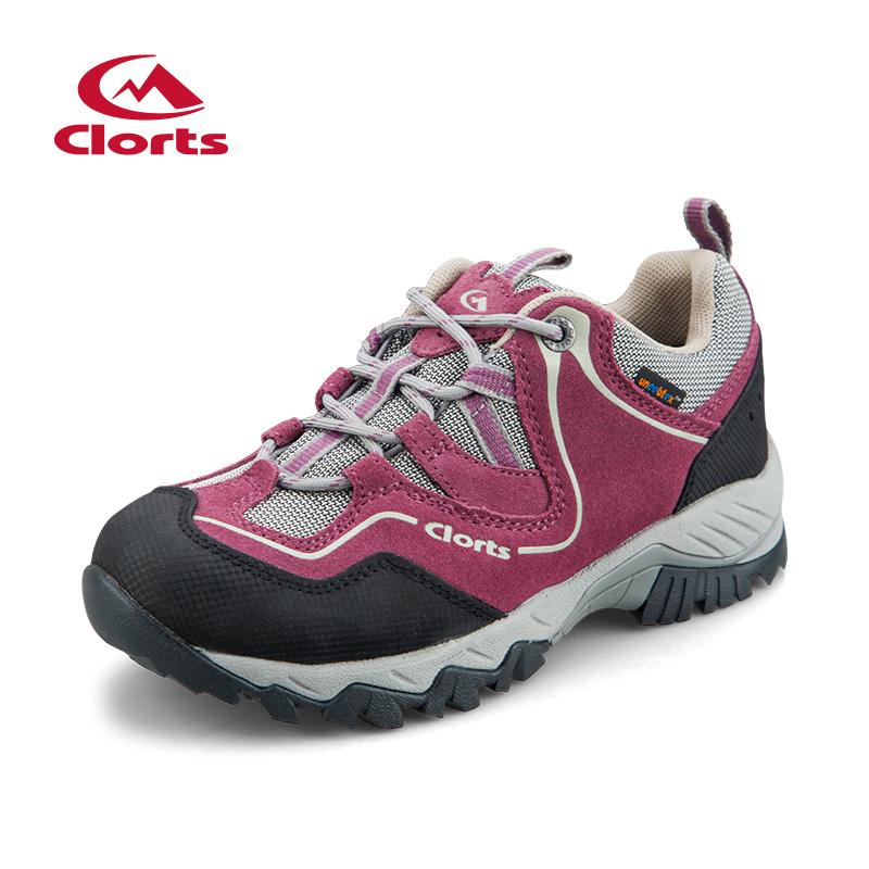 2017 Clorts Womens Hiking Shoes Waterproof Outdoor Rock Climbing Shoes Breathable Sports Shoes For Women Free Shipping HKL-826E clorts women trekking shoes outdoor hiking lace up shoes waterproof suede hiking shoes female breathable climbing shoes hkl 828d