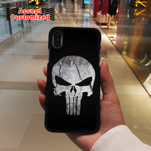 Punisher Crânio de Shell Duro Tampa Do Caso para o iphone X XS Max XR 7 8 6 6 S Plus 5 5S SE Samsung Galaxy Note 8 9 S8 S9 Plus S6 S7 Borda(China)