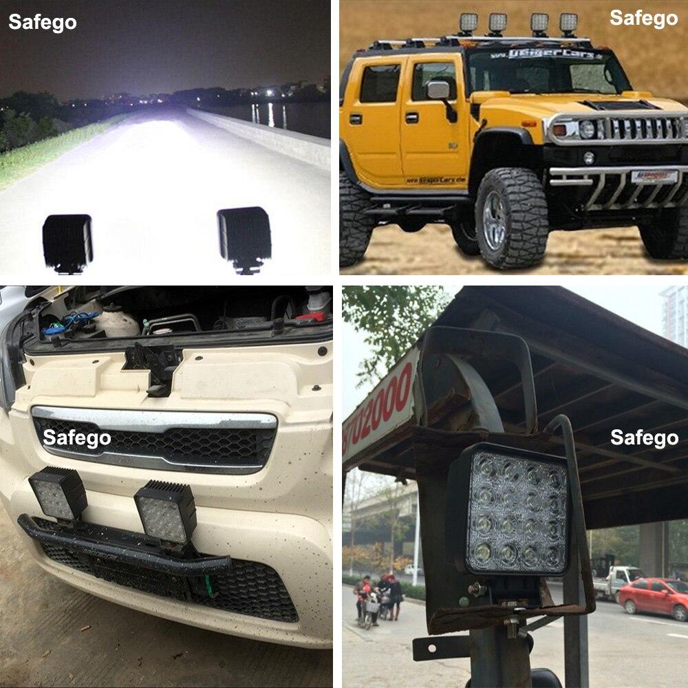 1x Safego 48W світлодіодні робочі ліхтарі - Автомобільні фари - фото 6