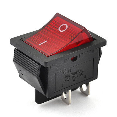 250VAC/15A 125VAC/20A 4 Pin 2 Position DPST ON-OFF Snap in Rocker Switch KCD2-201N 5pcs black mini round 3 pin spdt on off rocker switch snap in s018y high quality