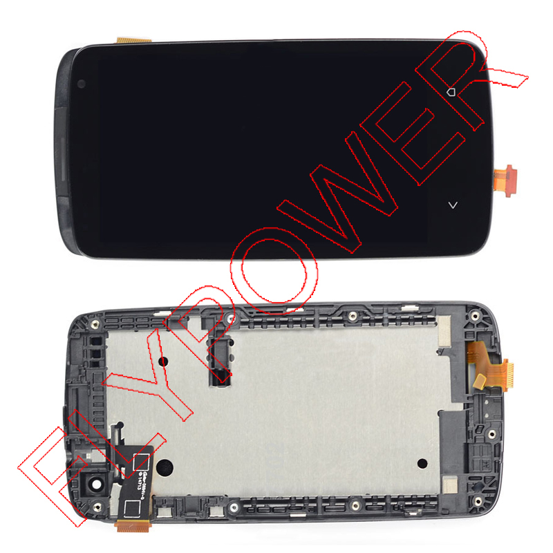 ФОТО Replacement For HTC Desire 500 Full LCD Display + Touch Screen Digitizer + Frame assembly black by free shipping