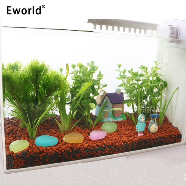 Eworld 50pcs Glow In The Dark Artificial Luminous Pebbles Stone