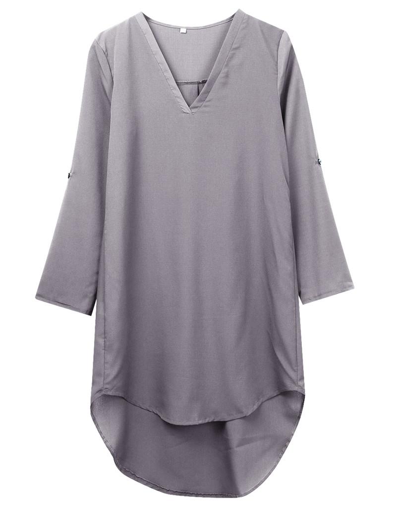 HTB1rumXOVXXXXacXpXXq6xXFXXXe - Newest Women Long Sleeve Loose Waist Solid Shirt Dress-Newest Women Long Sleeve Loose Waist Solid Shirt Dress
