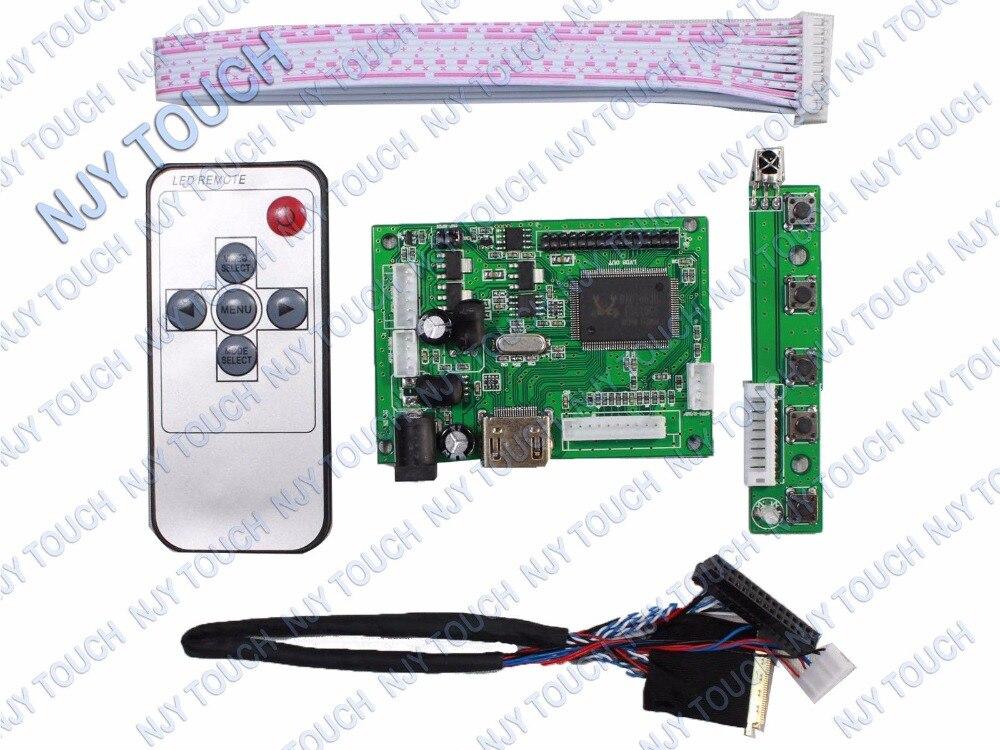 HDMI Remote LCD Controller Driver Board kit For 15.6 N156BGE-L21 1366x768 LED Panel 775mm led backlight lamps kit w optical lens fliter for 39 40 tv monitor panel 12pcs led strips driver board