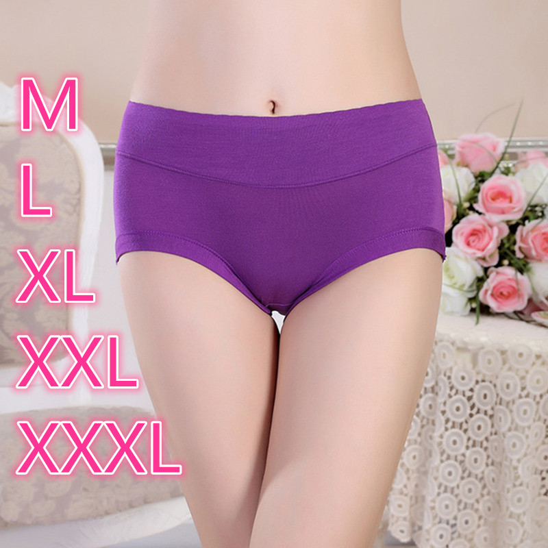 Underwear Women Bamboo Panties Large Size Lingerie Feamle Big Size Brief Underpants Comfort Breathable Underwear Women's Panties