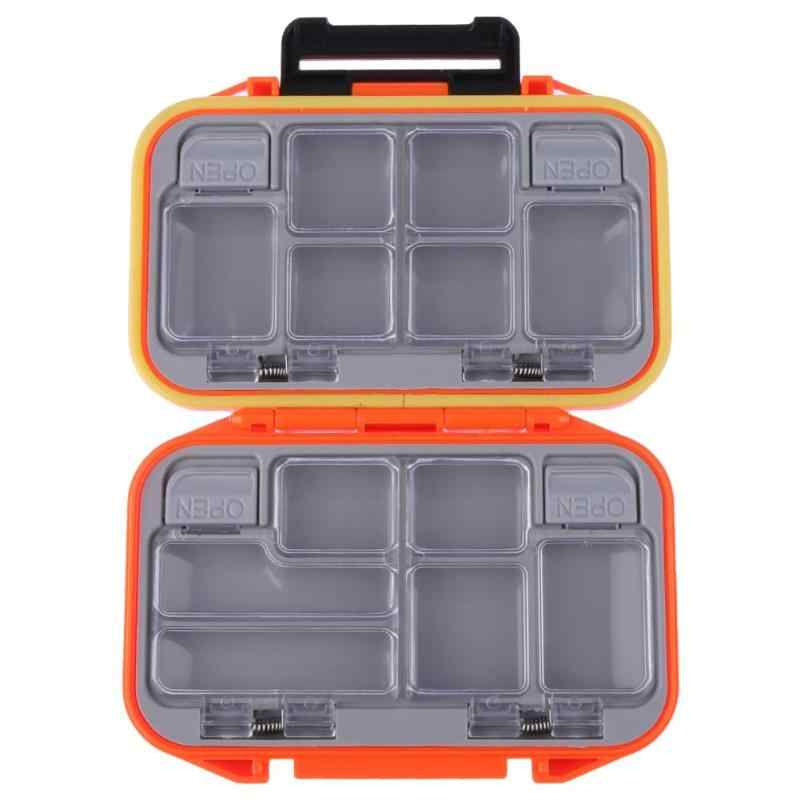 Outdoor 12 Grid Compartments Waterproof Lure Hook Bait Fishing Tackle Storage Box Case Double Side Fish Pocket Box