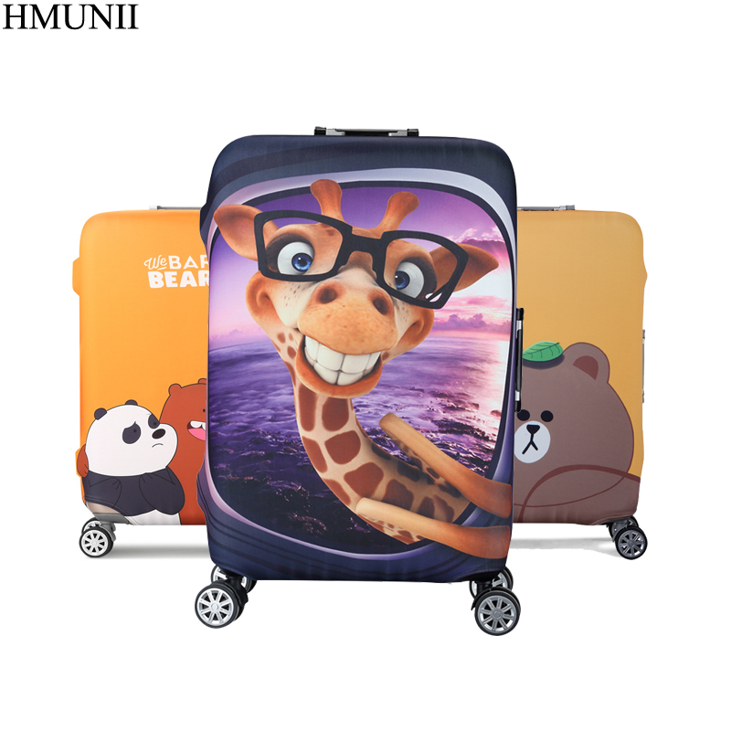 1bad0e0cb5b1 HMUNII толстый чемодан для путешествий, защитный чехол для багажника, чехол  для чемодана 19 ''-32'', совершенно эластичный A1-03