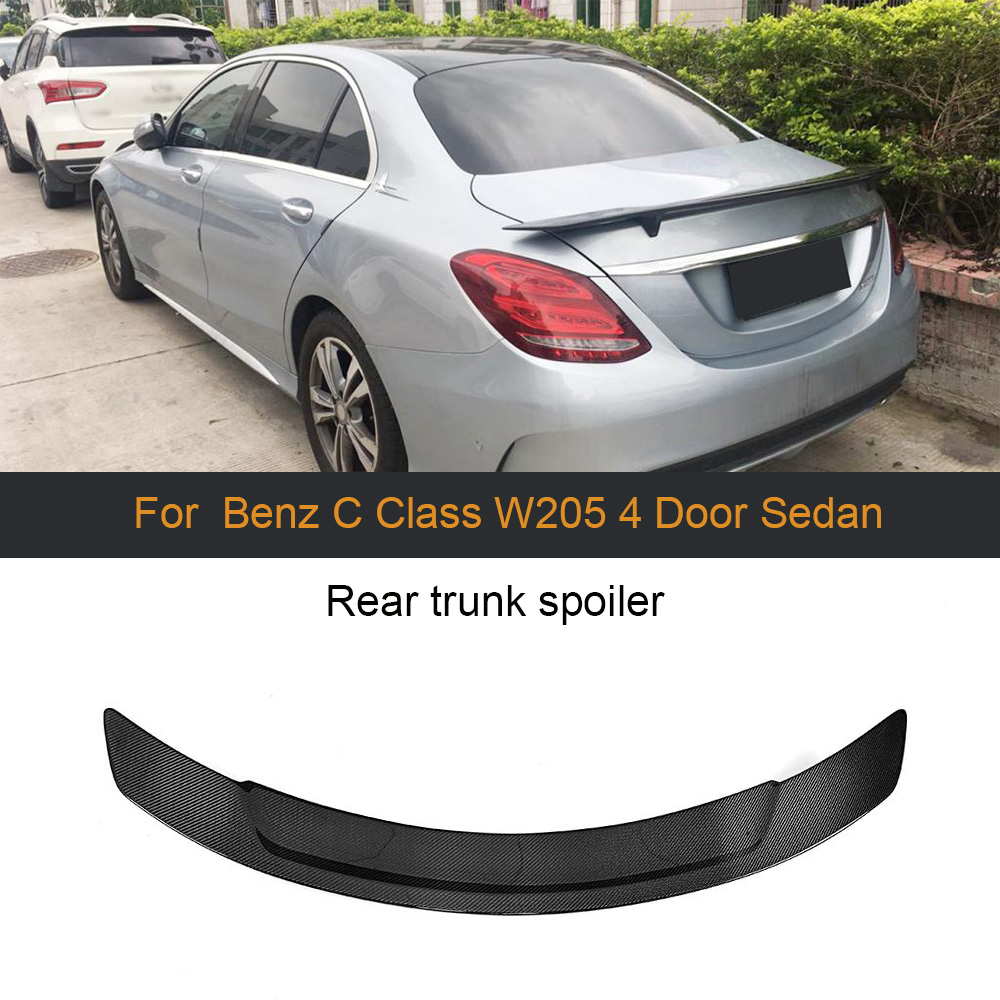 Black Rear Roof Trunk Spoiler Wing Cover For Mercedes Benz A Class Sedan 2019