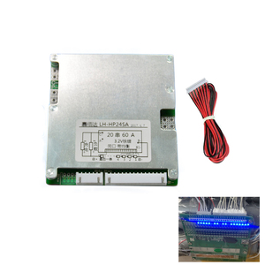 Image 1 - 20S 72V Lifepo4 li ion Lipo Battery Protection Board 60V Lithium 30A 40A 50A with Balance LED Indicator BMS PCB 3S 20 Cell PCM