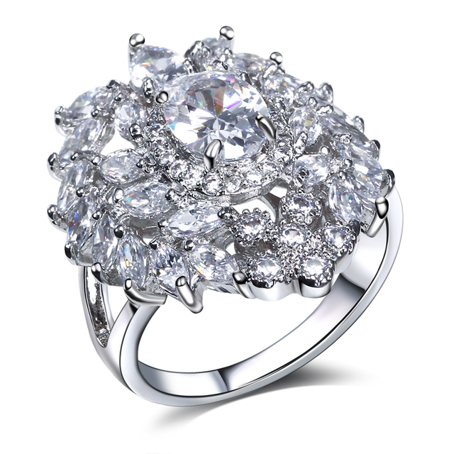 lan palace engagement ring fine jewelry AAA Cubic Zirconia wedding jewelry gold plated natural stone ring  free shipping